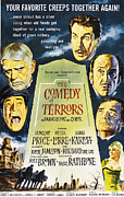 Horror Movies Framed Prints - The Comedy Of Terrors, Clockwise Framed Print by Everett