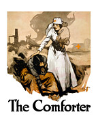 World War One Digital Art Metal Prints - The Comforter Metal Print by War Is Hell Store