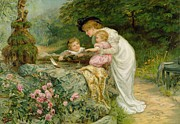 Pink Rose Prints - The Coming Nelson Print by Frederick Morgan