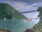 Hudson Painting Posters - The Commander At Bear Mt. Bridge  Poster by Glen Heberling