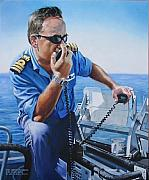 Navy Paintings - The Commander by Tim Johnson