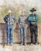 Texas Painting Originals - The Committee by Debra Jones