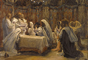 Religious Painting Framed Prints - The Communion of the Apostles Framed Print by Tissot