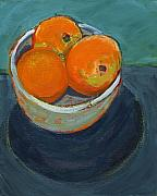 Orange Paintings - The Community Bowl Project by Jennifer Lommers