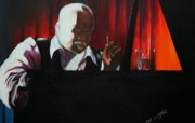 Basie Painting Prints - The Composer Print by Arthur Covington