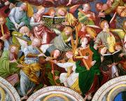 Detail Painting Prints - The Concert of Angels Print by Gaudenzio Ferrari