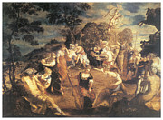 Muse Paintings - The Concert of Muses by Tintoretto