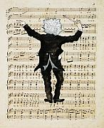 Caricature Framed Prints - The Conductor Framed Print by Paul Helm
