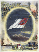 Confederate Flag Art - The Confederate Flag, 1867 by Granger
