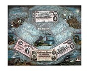 North Mixed Media Framed Prints - The Confederate Note Memorial  Framed Print by War Is Hell Store