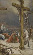 Kneeling Prints - The Confession of Saint Longinus Print by Tissot