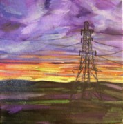 Pylon Paintings - The Connection by Tara Lewis