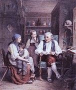 Physicians Prints - The Consultation. A Mother Visits Print by Everett