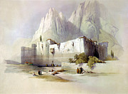 Roberts Drawings - The convent of St. Catherine Mount Sinai by Munir Alawi