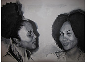 African American Women Paintings - The Conversation by Roberta Rainey