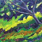 Nature Scene Paintings - The Cool Shade by Richard T Pranke
