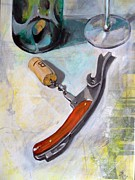Cork Screw Paintings - The cork screw. by Lorand Sipos