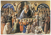 Virgin Mary Paintings - The Coronation of the Virgin by Fra Filippo Lippi