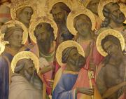 Close-up Painting Framed Prints - The Coronation of the virgin Framed Print by Lorenzo Monaco