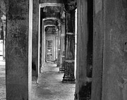 Cambodia Prints - The Corridor Print by Donna Caplinger