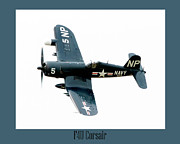 Fighters Prints - The Corsair Print by Greg Fortier