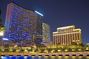 Vdara Prints - The Cosmopolitan and Vdara Hotel as seen from Las Vegas Boulevar Print by Andre Babiak