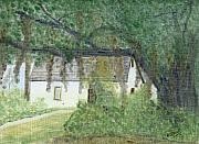 Country Cottage Pastels Prints - The Cottage-st. Simons Is. Ga Print by Diane Frick