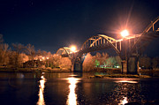 Jeka World Photography Posters - The Cotter Bridge At Night Poster by Jeka World Photography