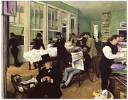 Art Buyers Prints - The Cotton Market in New Orleans Print by Edgar Degas