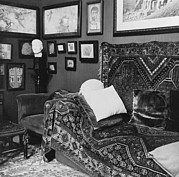 Freud Photo Framed Prints - The Couch In The Consulting Room Framed Print by Everett
