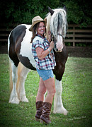 Best Friend Photos - The Country Cowgirl by Terry Kirkland Cook