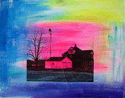 White House Mixed Media Originals - The Country by Moby Kane