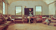 Bench Paintings - The Country School by Winslow Homer