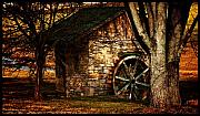 Stone House Framed Prints - The Country Spring House Framed Print by Steven  Digman