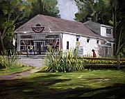 New England Village  Paintings - The Country Store by Nancy Griswold