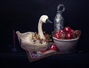 Folk Realism Paintings - The Country Swan by Ruth Wallace