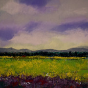 Field Pastels Prints - The Countryside Print by David Patterson