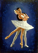 Ballet Dancers Painting Prints - The couple Print by Dimitris Papadakis