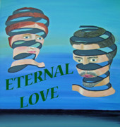 Special Occasion Painting Posters - The couple  ETERNAL LOVE Poster by Eric Kempson