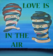 Asia Mixed Media Acrylic Prints - The couple  LOVE  IS IN THE AIR Acrylic Print by Eric Kempson