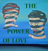 Eric Kempson Painting Prints - The couple THE POWER OF LOVE Print by Eric Kempson