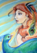 Bird Pastels - The Courtesan by Amanda Christine Shelton