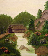 The Covered Bridge Print by Kim Walker