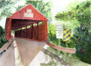 The Covered Bridge Print by Vickey Swenson