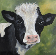 Barnyard Animal Paintings - The Cow II by Torrie Smiley