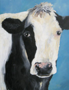 Barnyard Animal Paintings - The Cow III by Torrie Smiley