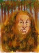 Scared Digital Art Prints - The Cowardly Lion Print by Russell Pierce