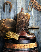Still Life Digital Art Originals - The Cowboy by Bill Fleming