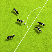 Turf Art - The Cows Playing Soccer by Ultra.f
