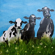 Observation Painting Framed Prints - The Cows Point of View Framed Print by Antje Martens-Oberwelland
